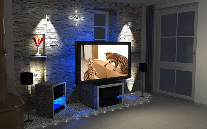 wohnzimmer ideen tv wand:Thema: Wohnzimmer – seriös